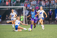 Allston, MA - Sunday July 31, 2016: Brittany Ratcliffe, Jamia Fields, Christen Westphal during a regular season National Women's Soccer League (NWSL) match between the Boston Breakers and the Orlando Pride at Jordan Field.