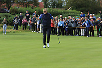 Thomas Plumb (GB&I) on the 5th during the Foursomes at the Walker Cup, Royal Liverpool Golf CLub, Hoylake, Cheshire, England. 07/09/2019.<br /> Picture Thos Caffrey / Golffile.ie<br /> <br /> All photo usage must carry mandatory copyright credit (© Golffile | Thos Caffrey)