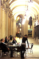 Caffe' all'aperto nel centro di Torino.<br /> Outdoor cafes in downtown Turin.<br /> UPDATE IMAGES PRESS/Riccardo De Luca