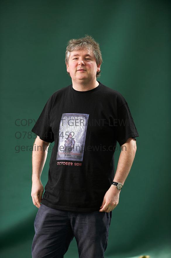 Darren Shan, author and horror writer  at The Edinburgh International Book Festival 2011.  Credit Geraint Lewis