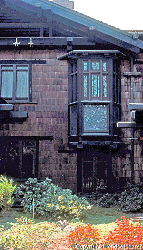 Greene & Greene: Blacker House, Pasadena.  Photo '78.
