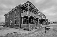 The Dakota Hotel was moved from Draper, SD. Built in 1910, it still carries the scars made by cowboys&rsquo; spurs on the staircase.<br /> <br /> 1880 TOWN in South Dakota is located 22 west of Murdo,  and has more than 30 buildings from the 1880 to 1920 era, authentically furnished with thousands of relics, historical accounts and photographs.  This is also the Longhorn Ranch and home to more than 100 Texas longhorn cattle.