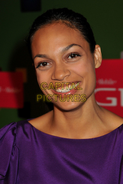ROSARIO DAWSON.T-Mobile's G1 Launch Party at Siren Studios, Hollywood, California, USA..October 17th, 2008.headshot portrait purple .CAP/ADM/BP.©Byron Purvis/AdMedia/Capital Pictures.