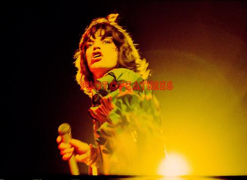 Rolling Stones 1976 Mick Jagger.© Chris Walter.