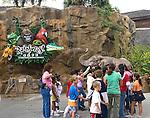 Shopping, Children's Tour Group, Rain Forest, Disney Downtown Marketplace, Orlando, Florida