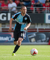 Michael Harriman of Wycombe Wanderers on the ball during the Sky Bet League 2 match between Leyton Orient and Wycombe Wanderers at the Matchroom Stadium, London, England on 19 September 2015. Photo by Andy Rowland.