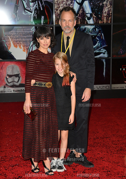 Constance Zimmer, Russ Lamoureux &amp; Colette Zoe Lamoureux at the world premiere for &quot;Star Wars: The Last Jedi&quot; at the Shrine Auditorium. Los Angeles, USA 09 December  2017<br /> Picture: Paul Smith/Featureflash/SilverHub 0208 004 5359 sales@silverhubmedia.com
