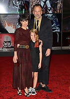 "Constance Zimmer, Russ Lamoureux & Colette Zoe Lamoureux at the world premiere for ""Star Wars: The Last Jedi"" at the Shrine Auditorium. Los Angeles, USA 09 December  2017<br /> Picture: Paul Smith/Featureflash/SilverHub 0208 004 5359 sales@silverhubmedia.com"