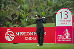 Valentine Derrey of France tees off at the 13th hole during Round 2 of the World Ladies Championship 2016 on 11 March 2016 at Mission Hills Olazabal Golf Course in Dongguan, China. Photo by Victor Fraile / Power Sport Images