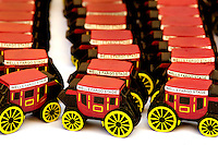 The Wells Fargo Stagecoach continues to be an icon of the financial services giant. Wells Fargo handed out miniature stagecoaches to some of the thousands of Charlotteans and visitors who flocked to downtown Charlotte on Saturday, October 29, 2011, for the Wells Fargo Community Celebration. The daylong festival took place in the streets, in public atriums and in downtown museums, which offered free admission all day long. Wells Fargo, which this month completed its conversion from Wachovia, picked up the bill.