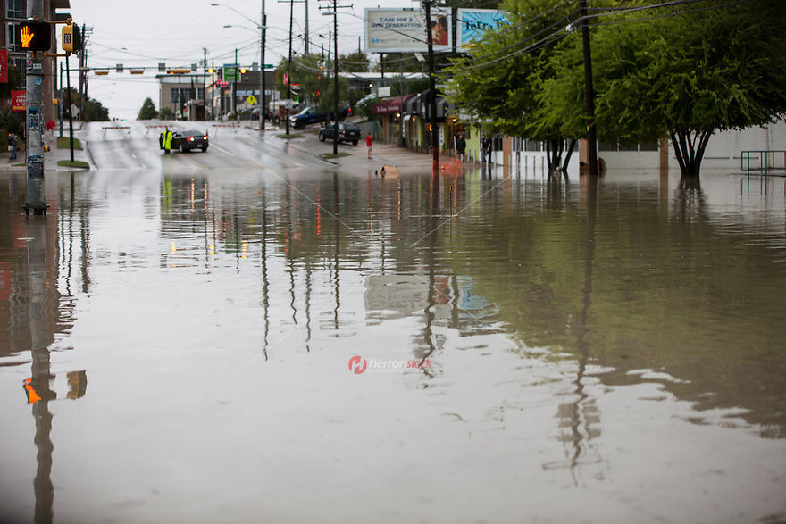 Much of Austin, Texas was deluged Saturday by pounding, relentless rains -- up to 20 inches, in some locales - causing dangerous flooding.