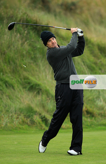 Kyle MacLachlan during the Practice day for the Alfred Dunhill Links Championship at Kingsbarns Golf Club on Wednesday 25th September 2013.<br /> Picture:  Thos Caffrey / www.golffile.ie