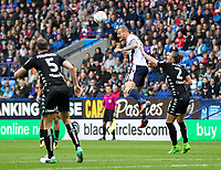 Bolton Wanderers' David Wheater competing in the air<br /> <br /> Photographer Andrew Kearns/CameraSport<br /> <br /> The EFL Sky Bet Championship - Bolton Wanderers v Leeds United - Sunday 6th August 2017 - Macron Stadium - Bolton<br /> <br /> World Copyright &copy; 2017 CameraSport. All rights reserved. 43 Linden Ave. Countesthorpe. Leicester. England. LE8 5PG - Tel: +44 (0) 116 277 4147 - admin@camerasport.com - www.camerasport.com