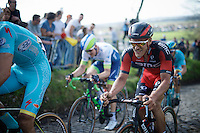 Jempy Drucker (LUX/BMC) up the Koppenberg<br /> <br /> 100th Ronde van Vlaanderen 2016