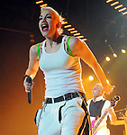 Gwen Stefani and No Doubt perform at the Cynthia Woods Mitchell Pavillion Sunday May 31,2009.(Dave Rossman/For the Chronicle)