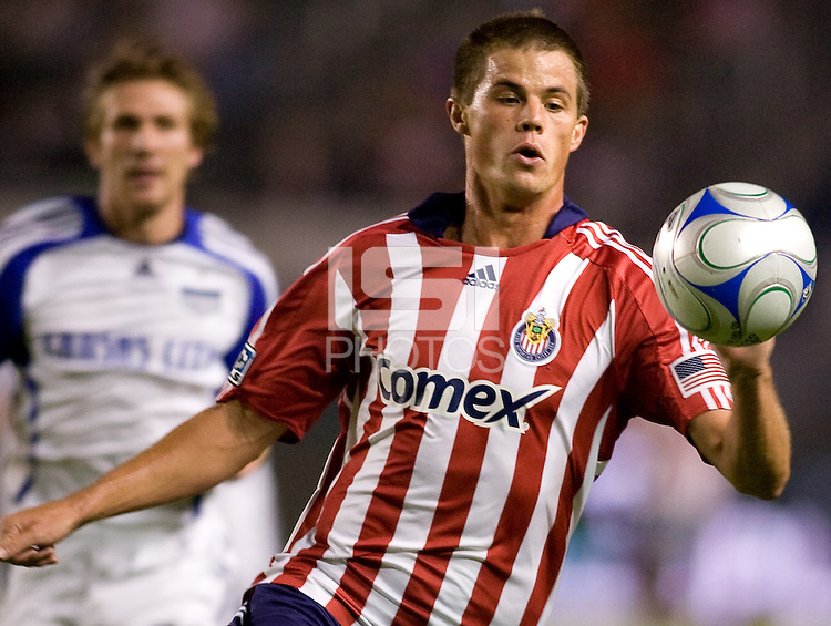 Chivas USA forward Justin Braun moves to the ball.  Chivas USA defeated the Kansas City Wizards 2-0 at Home Depot Center stadium in Carson, California on Saturday October 10, 2009...