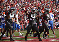 NWA Democrat-Gazette/BEN GOFF @NWABENGOFF<br /> Rawleigh Williams III (22), Arkansas running back, celebrates after scoring against Florida in the first quarter on Saturday Nov. 5, 2016 during the game in Razorback Stadium in Fayetteville.