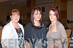 FASHION: Enjoying the Fashion Show in aid of the Cancer Society and Recovery Haven at the Carlton hotel on Sunday l-r: Kathleen, Triona and Liz Breen all from Spa Road, Tralee.