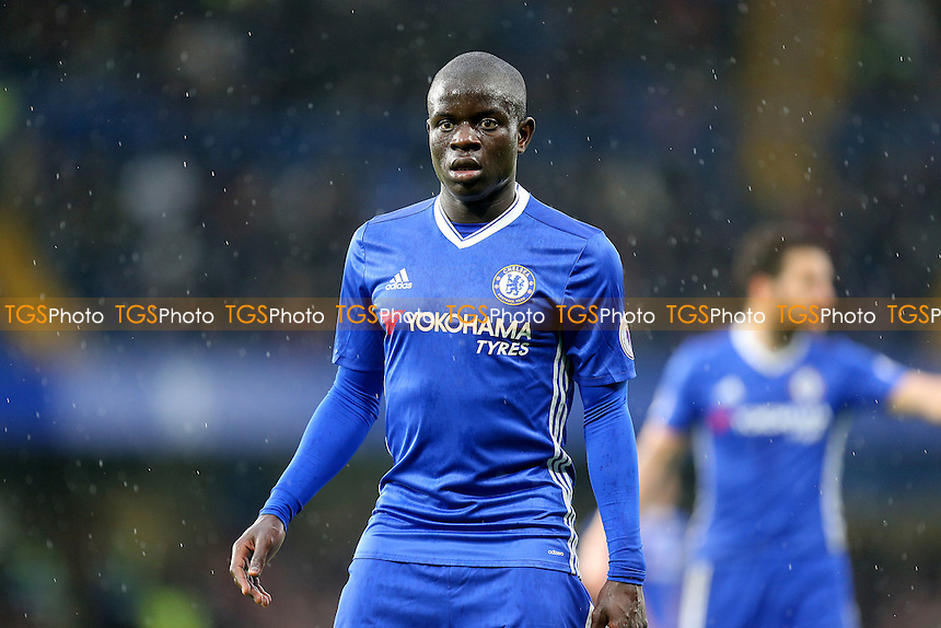 Ngolo Kante of Chelsea during Chelsea vs Swansea City, Premier League Football at Stamford Bridge on 25th February 2017