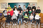 ABBEYDORNEY G.L.C.: The Abbeydorney U8 & 10's teams enjoying their awards ceremony at their clubhouse on Friday.