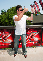 Simon Cowell Arrives at the Frank Erwin Center in Austin, TX for the first day of audition for The X Factor on Thurs., May 24, 2012. copyright Media Punch Inc.