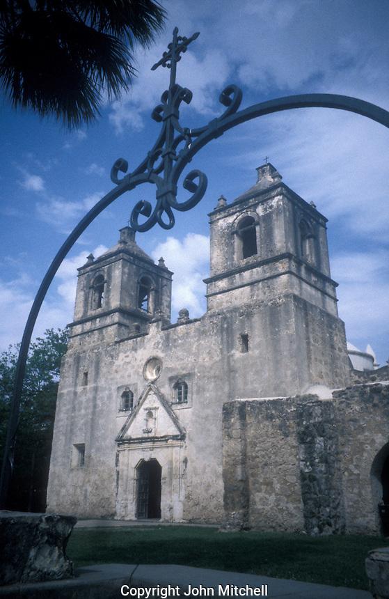 Mision Concepcion near San Antonio, Texas, USA