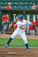 Matt Jones (40) of the Ogden Raptors at bat against the Orem Owlz in Pioneer League action at Lindquist Field on June 18, 2015 in Ogden, Utah.  This was Opening Night play of the 2015 Pioneer League season. (Stephen Smith/Four Seam Images)