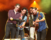 Darlingside performs at the Cambridge Folk Festival 2018, Cherry Hinton Hall, Cambridge, England, UK on 3rd and 4th August 2018.<br /> CAP/ROS<br /> &copy;ROS/Capital Pictures