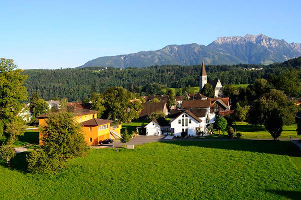 Hochstativ-Fotos,  PAP Pole Aerial Photography: Ruggell, Liechtenstein