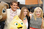 "Universal City, CA - March 27: David Hasselhoff, Taylor Ann Hasselhoff and Hayley Hasselhoff arrive at the Los Angeles premiere of ""Hop"" at Universal Studios Hollywood on March 27, 2011 in Universal City, California."