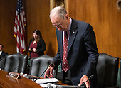 United States Senator Chuck Grassley (Republican of Iowa) goes over his notes as he arrives to chair the US Senate Committee on the Judiciary vote on the nomination of Judge Brett Kavanaugh to be Associate Justice of the US Supreme Court to replace the retiring Justice Anthony Kennedy on Capitol Hill in Washington, DC on Friday, September 28, 2018.  If the committee votes in favor of Judge Kavanaugh then it goes to the full US Senate for a final vote.<br /> Credit: Ron Sachs / CNP<br /> (RESTRICTION: NO New York or New Jersey Newspapers or newspapers within a 75 mile radius of New York City)