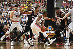 during the 2017 NCAA Men's Final Four Semifinal at University of Phoenix Stadium on April 1, 2017 in Glendale, Arizona.