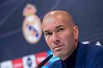 Real Madrid coach Zinedine Zidane during press conference to announce he leave the Real Madrid in Madrid, Spain. May 31, 2018. (ALTERPHOTOS/Borja B.Hojas)