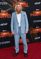 "LOS ANGELES, CA. March 04, 2019: Rune Temte at the world premiere of ""Captain Marvel"" at the El Capitan Theatre.<br /> Picture: Paul Smith/Featureflash"