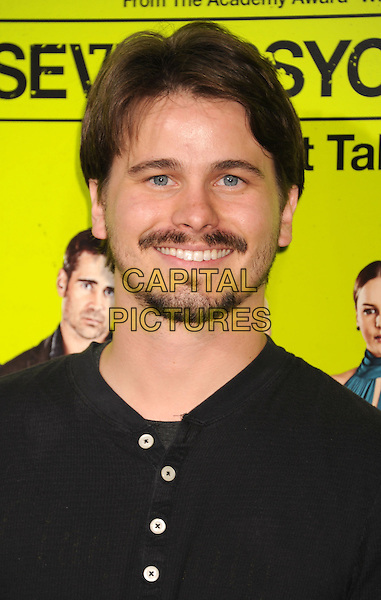 "Jason Ritter.""Seven Psychopaths"" Los Angeles Premiere held at the Bruin Theatre, Westwood, California, USA..October 1st, 2012.headshot portrait black goatee facial hair .CAP/ROT/TM.© TM/Roth/Capital Pictures"