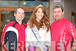 The Kerry Rose Karen McGillycuddy with cyclists Adrian Gallagher, Derrymore and Pat Dowling, Dunlea at the Charity Cycle in aid of the A&E at KGH at Strand Road on Saturday.