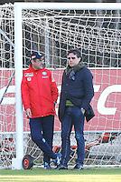 Allenamento del Napoli nel centro sportivo di CastelVolturno<br />  Maurizio Sarri  Cristiano Giuntoli