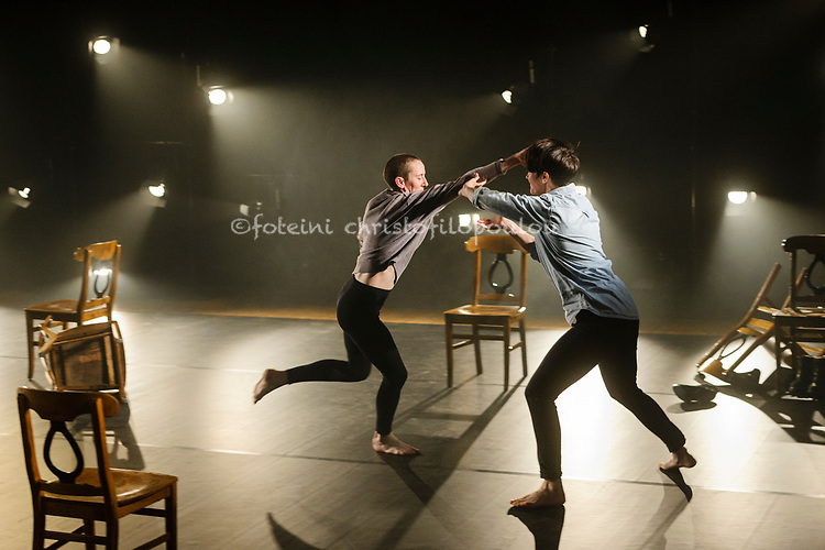 London, UK. 26.10.2017. Shoreditch Takeover is part of Dance Umbrella Festival 2017, featuring choreography by Julie Cunningham. Photo shows: Julie Cunningham &amp; Anna Martine Freeman. <br /> <br /> Shoreditch Takeover also features Dance, Poetry &amp; Film from Lisbeth Gruwez, Vanessa Kisuule &amp; Charles Linehan. It runs at Shoreditch Town Hall 26-28 October. Photo - &copy; Foteini Christofilopoulou