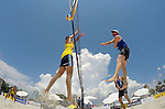 ST. PETERSBURG, FL - JUNE 18:  A general view of Capogrosso/Mehamed of Argentina vs. Kapa/McHugh of Australia during the FIVB Beach Volleyball World Tour St. Petersburg Grand Slam presented by the AVP on June 18, 2015 at Spa Beach in St. Petersburg, Florida. (Photo by Donald Miralle for the AVP)