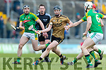 Brandon Barrett Kerry in action against Anthony Forde Meath in the Allianz Hurling League Division 2a Round 4 match between Kerry and Meath at Austin Stack Park, Tralee, Co. Kerry.