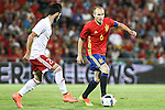 Georgia's Dvali and Spain's Andres Iniesta during the up match between Spain and Georgia before the Uefa Euro 2016.  Jun 07,2016. (ALTERPHOTOS/Rodrigo Jimenez)