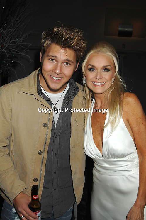 """Scott Clifton and Catherine Hickland..at the afterparty for The 3rd Annual """"ABC Daytime Salutes Broadway Cares/Equity Fights Aids """" Benefit at the Marriott Marquis in New York on February 25, 2007. ..Robin Platzer, Twin Images.."""