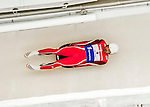 4 December 2015: Shiva Keshavan, sliding for India, enters a curve during his second run of the Viessmann Luge World Cup at the Olympic Sports Track in Lake Placid, New York, USA. Mandatory Credit: Ed Wolfstein Photo *** RAW (NEF) Image File Available ***