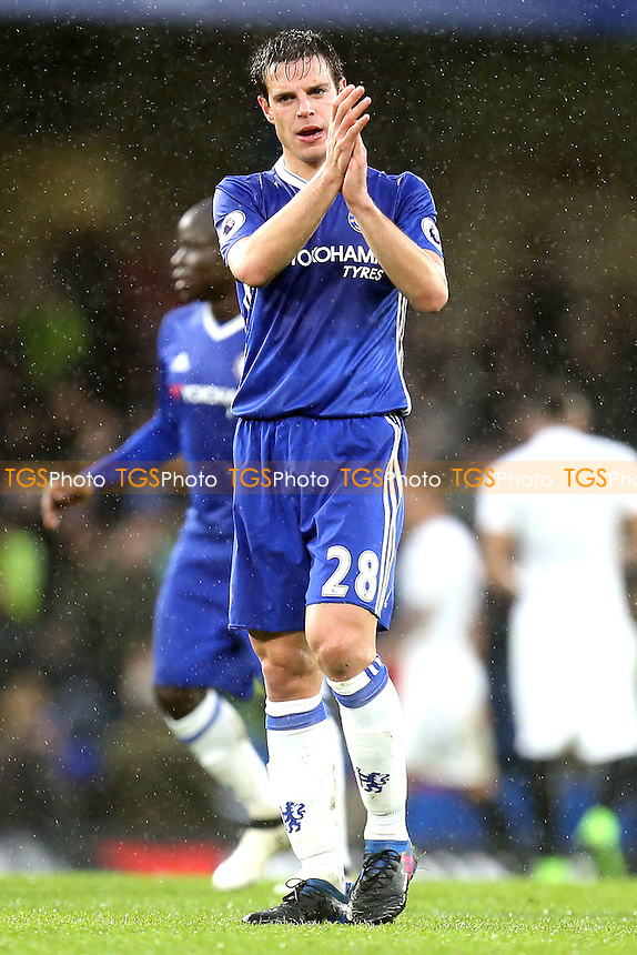 Cesar Azpilicueta of Chelsea after Chelsea vs Swansea City, Premier League Football at Stamford Bridge on 25th February 2017