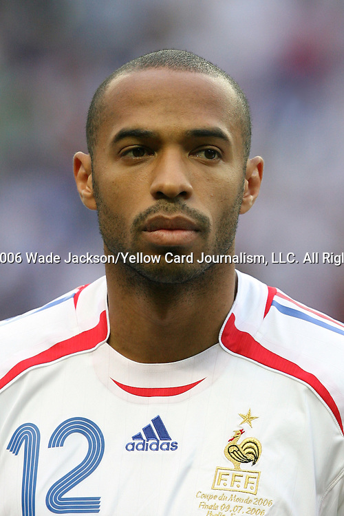 09 July 2006: Thierry Henry (FRA).  Italy defeated France in a penalty kick shoot-out at the Olympiastadion in Berlin, Germany in match 64, the championship game, of the 2006 FIFA World Cup Finals.