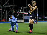 Stacey Michelsen during the international hockey match between the Blacksticks Women and India, Rosa Birch Park, Pukekohe, New Zealand. Tuesday 16  May 2017. Photo:Simon Watts / www.bwmedia.co.nz