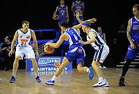 in action during the national basketball league match between Wellington Saints and Nelson Giants at TSB Bank Arena in Wellington, New Zealand on Tuesday, 25 April 2017. Photo: Dave Lintott / lintottphoto.co.nz