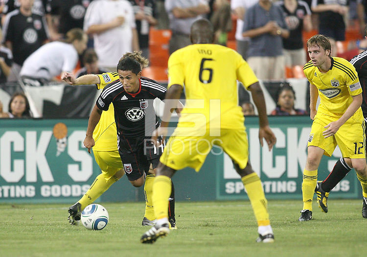 of D.C. United of the Columbus Crew during a US Open Cup semi final match at RFK Stadium on September 1 2010, in Washington DC. Crew won 2-1.