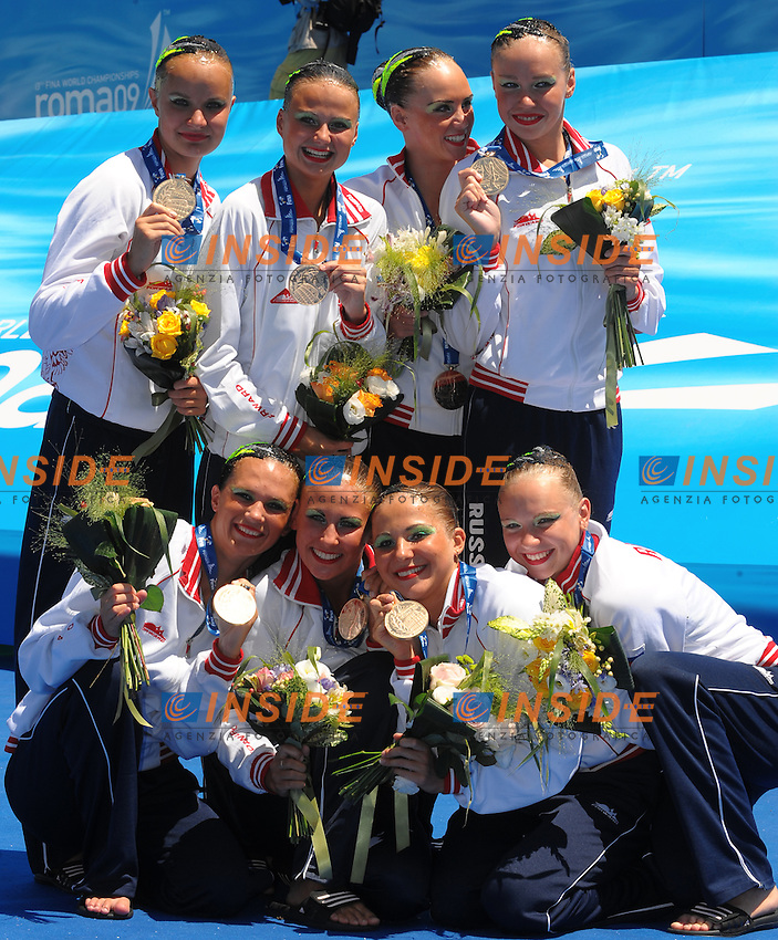 13th Fina World Championships From 17th to 2nd August 2009.19/7/2009.Synchronized Swimming.Russia Gold Medal.Foto Roma2009.com/InsideFoto/SeaSee .Foto Andrea Staccioli Insidefoto