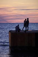 Fishermen on Bayfield Pier Bayfield Ontario